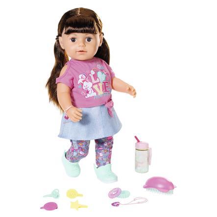 Zapf Creation BABY born® Poupée Soft Touch soeur brunette 43 cm