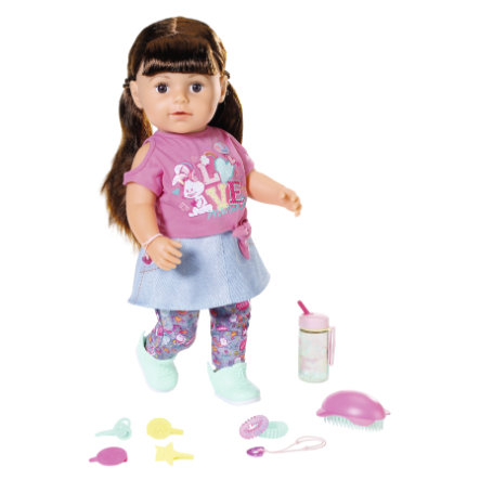 Zapf Creation BABY born® Soft Touch Sister bruneta  43 cm