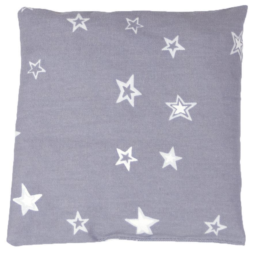 THERALINE Bouillotte noyaux cerise ciel étoilé 19x19 cm