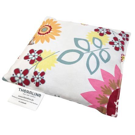 THERALINE Bouillotte noyaux cerise fleurs 19x19 cm