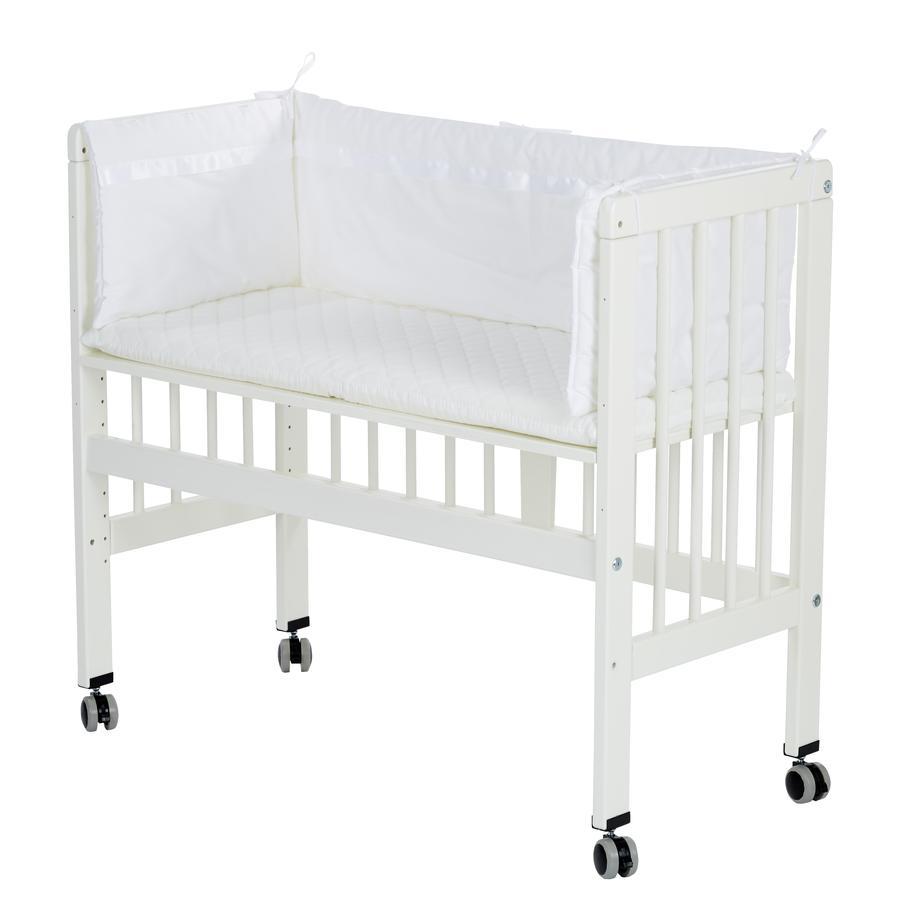 Alvi® přístavná postýlka k posteli Boxspring bílá kompletní sada 577-0