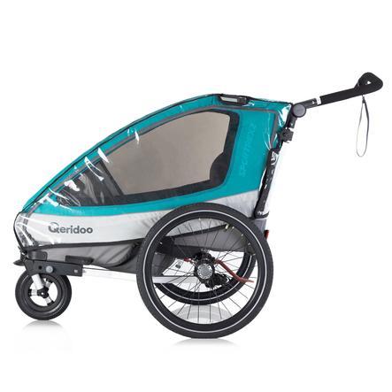 Qeridoo® Regenschutz für Kinderfahrradanhänger Sportrex2