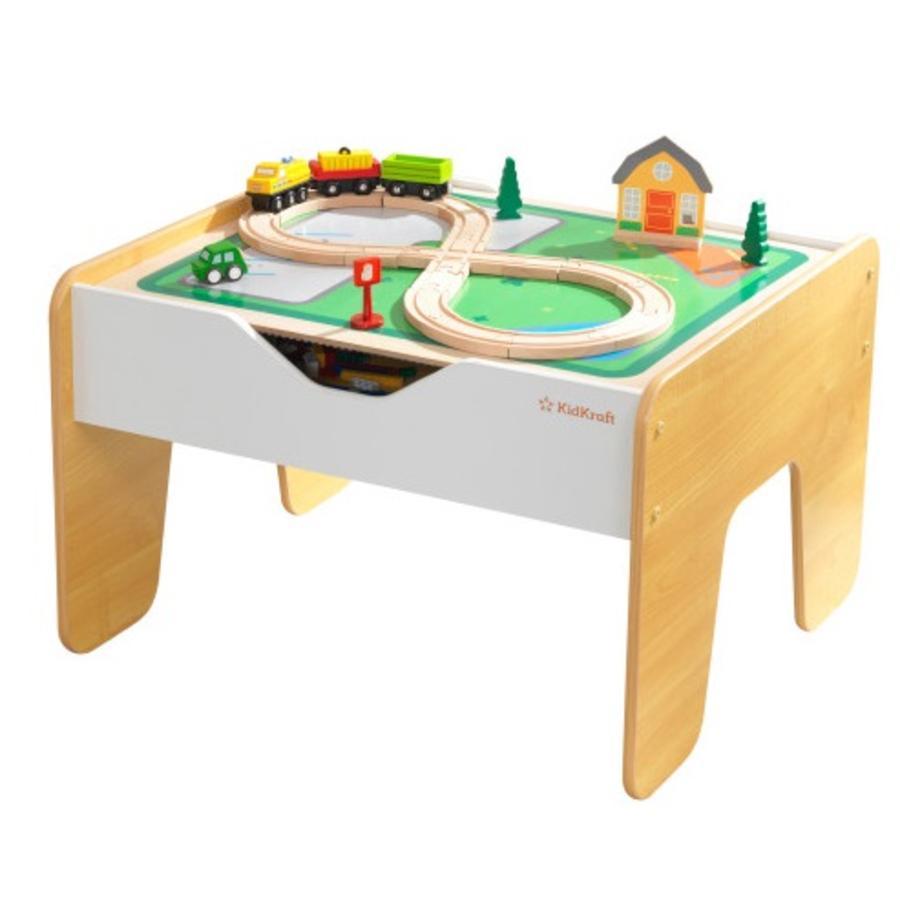 KidKraft® Table d'activités 2en1, bois gris/naturel 10039