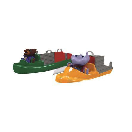 AquaPlay Bateau à conteneur et bateau de transport, 2 figurines