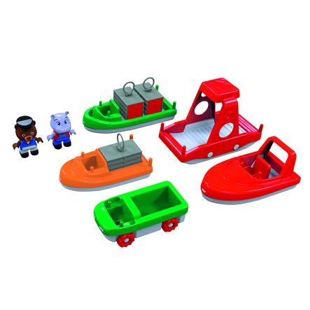 AquaPlay nákladní a přepravní loď včetně figurek