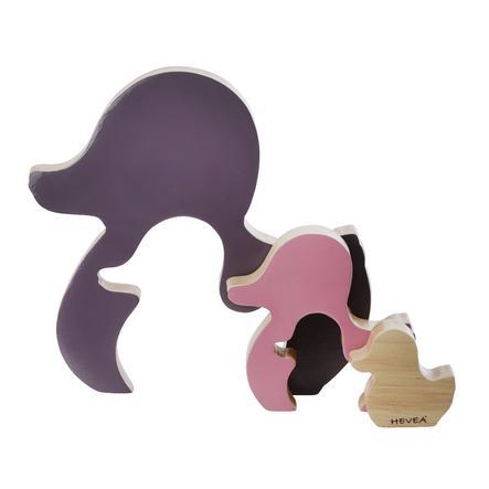 HEVEA Toy Duck KAWAN lavet af træ - Ametyhst