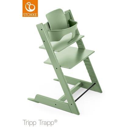 STOKKE® Tripp Trapp® Hochstuhl Buche Moss Green inkl. Baby Set Moss Green