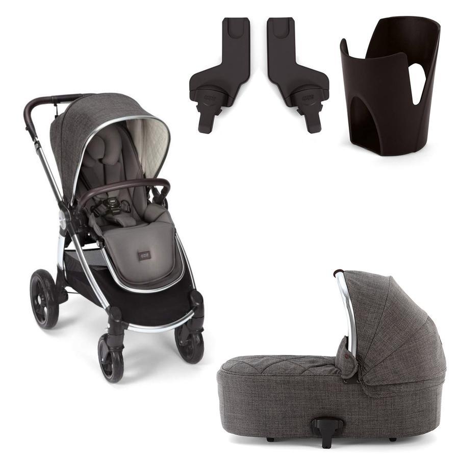 mamas & papas kombibarnevogn Ocarro med barnevognslift, adapter og kopholder Chestnut
