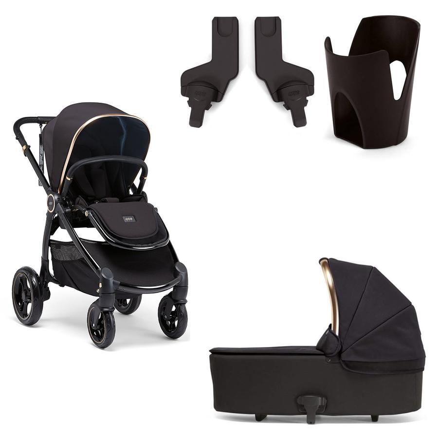 mamas & papas kombibarnevogn Ocarro med barnevognslift, adapter og kopholder Black Diamond
