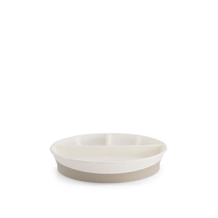 Twistshake Teller mit Unterteiler in weiß