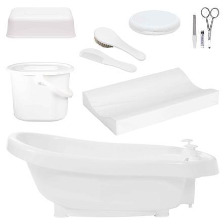 bébé-jou ® Thermo badesæt de Luxe hvid fra fødslen