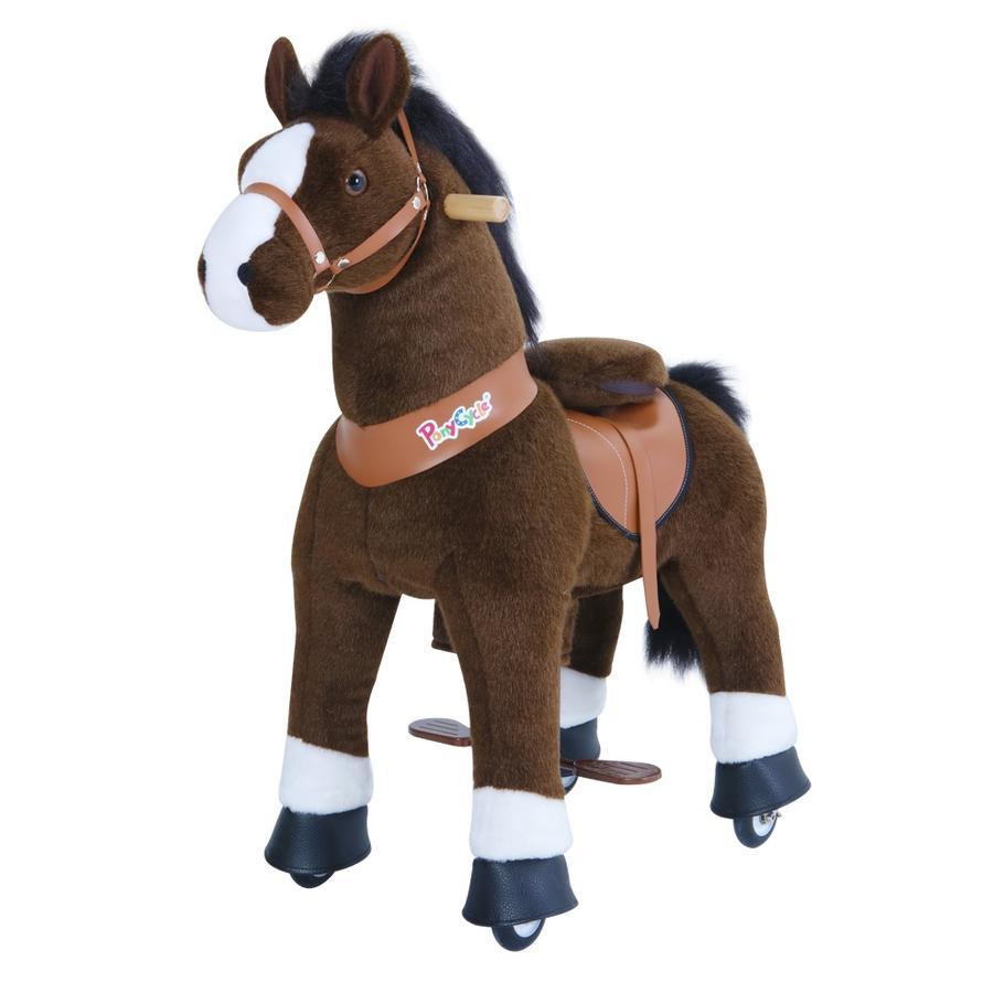 PonyCycle® Mørk brun hest, medium