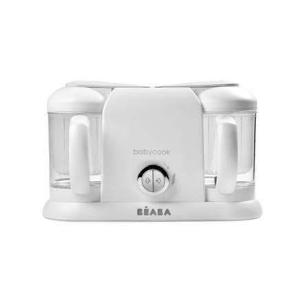 BEABA Robot cuiseur mixeur Babycook® Plus 4en1 blanc/argenté