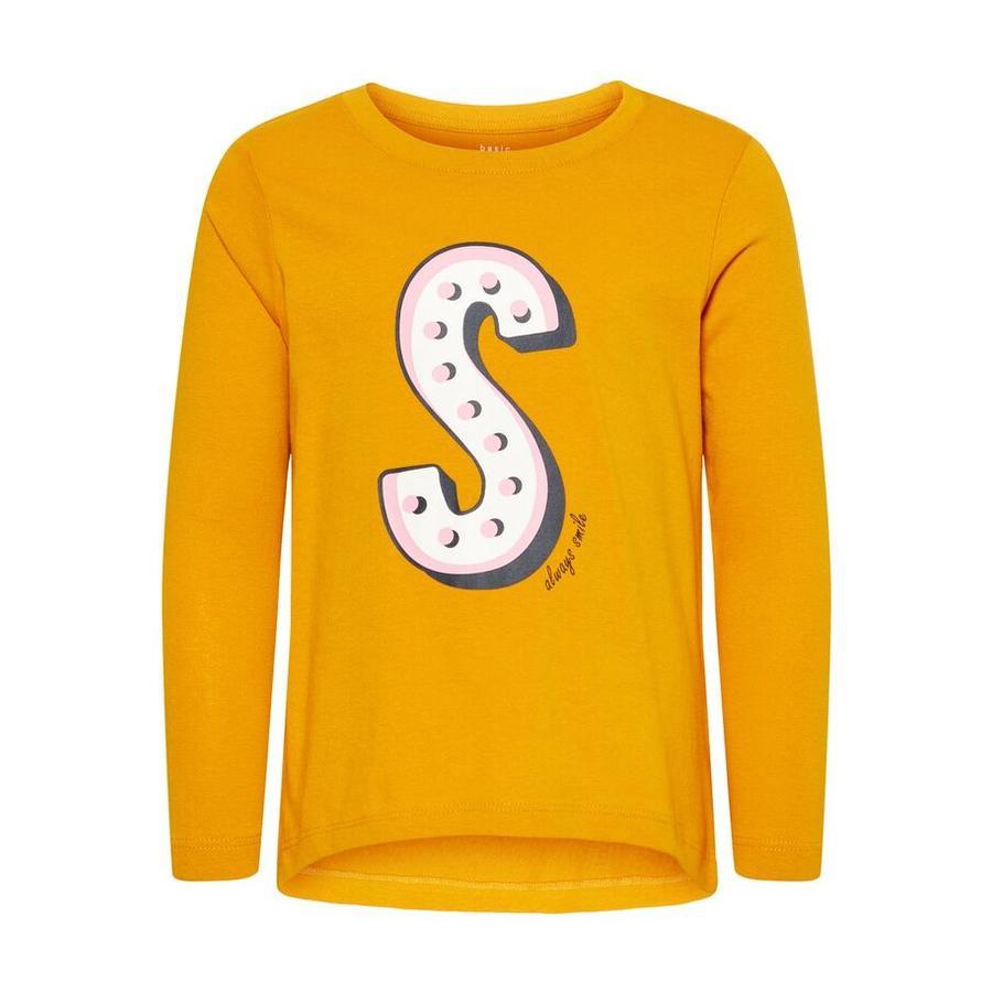 name it Langermet skjorte NMFVIOLET gylden oransje