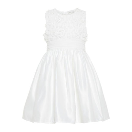 name it Girls Kleid Nbfsola bright white