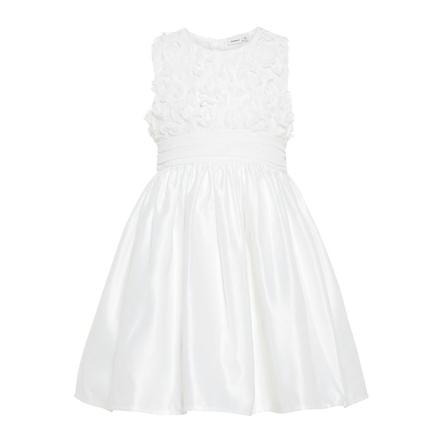NAME IT tyttöjen Dress Nbfsola b oikealle valkoinen