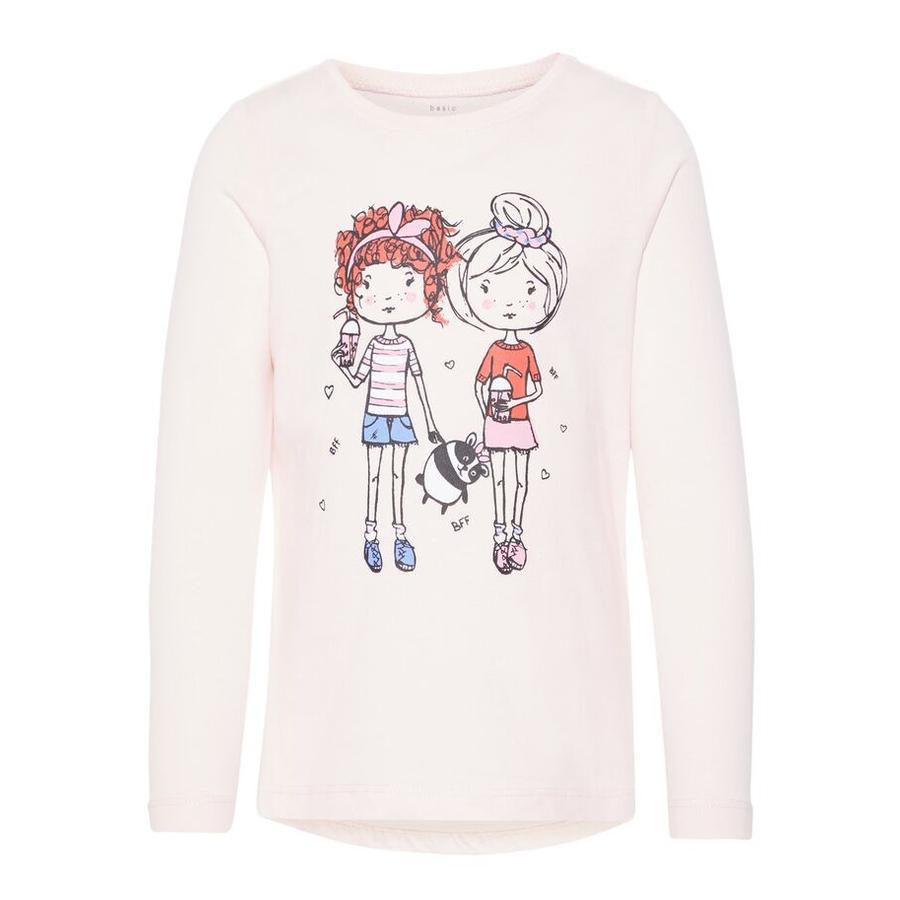 name it Girls Camisa de manga larga Veen barely pink