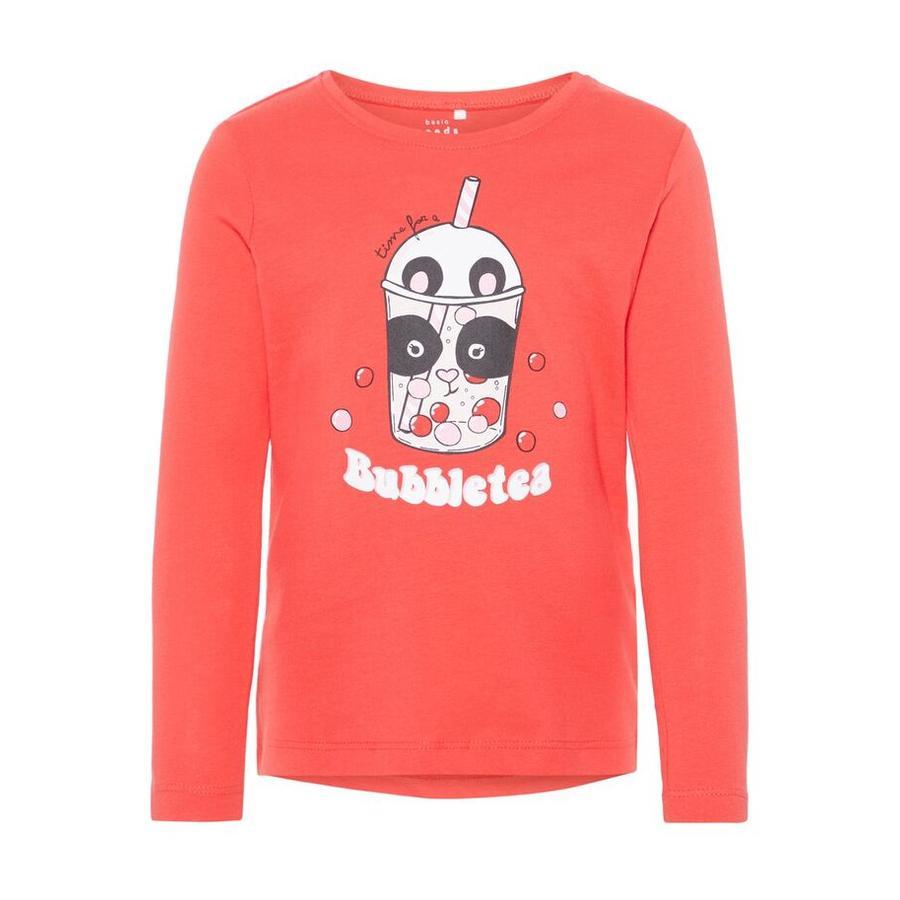 name it Girls Shirt met lange mouwen Veen poppy rood