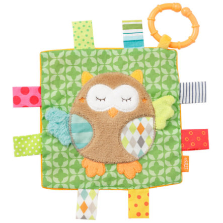 fehn Sleepi ng Forest crackling cloth owl with ring