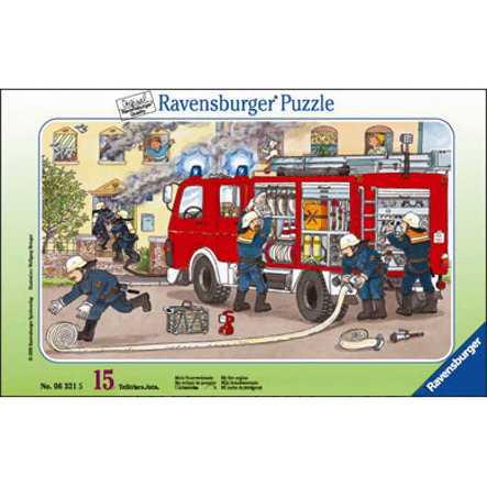 RAVENSBURGER Puzzle cadre Ma voiture de pompier 15 pièces