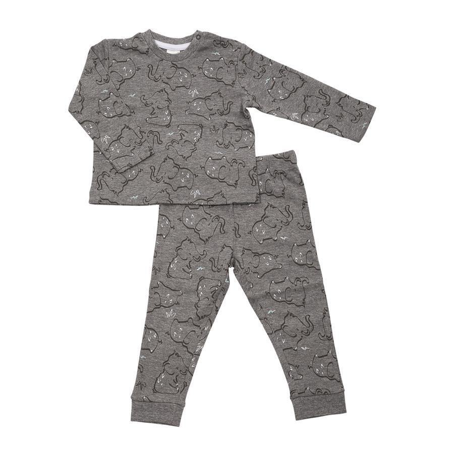 DIMO-TEX Schlafanzug 2tlg. Elefant grau gemustert