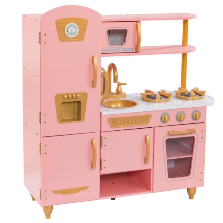 Kidkraft® Limited Edition Vintage-Spielküche – Rosa & Gold