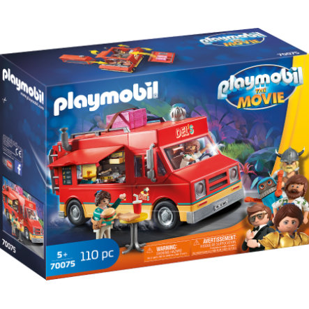 PLAYMOBIL® THE MOVIE Figurine camion Food Truck de Del 70075