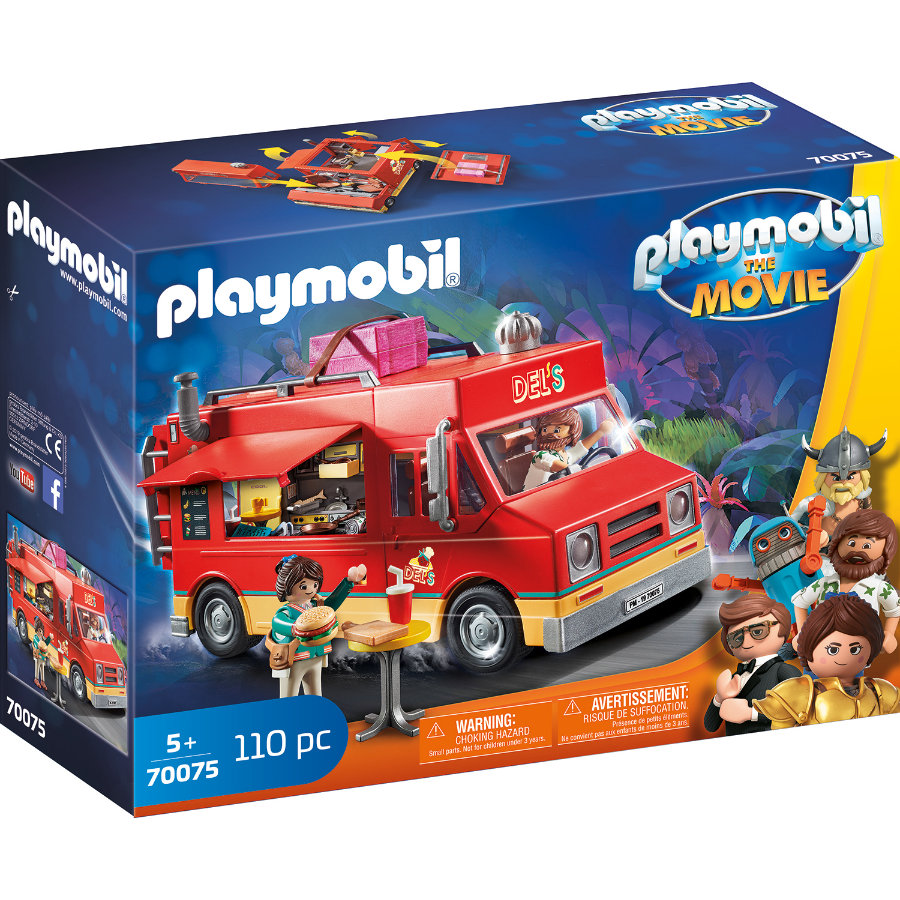 PLAYMOBIL® THE MOVIE Del's Food Truck 70075