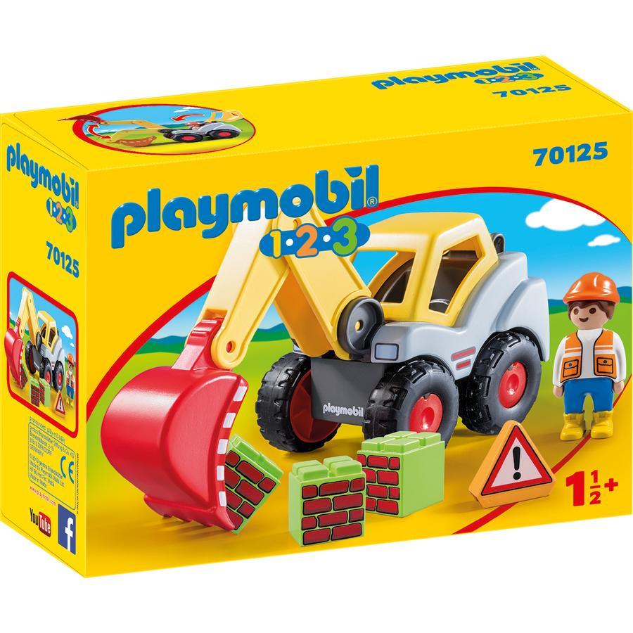 PLAYMOBIL  1 2 3 Excavadora de cangilones 70125