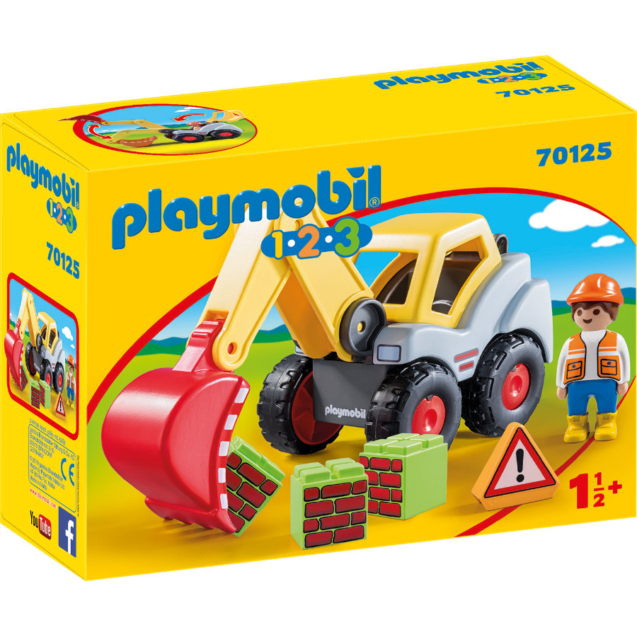 PLAYMOBIL® 1 2 3 Schaufelbagger 70125