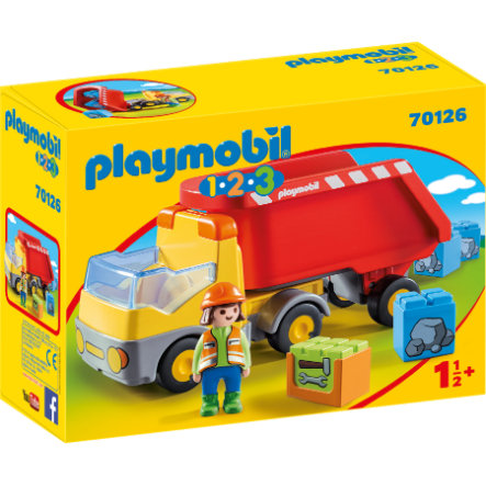 PLAYMOBIL 1 2 3 kippiauto 70126