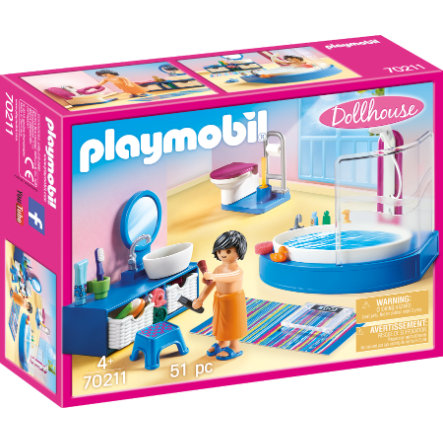 PLAYMOBIL® Dollhouse Badezimmer 70211