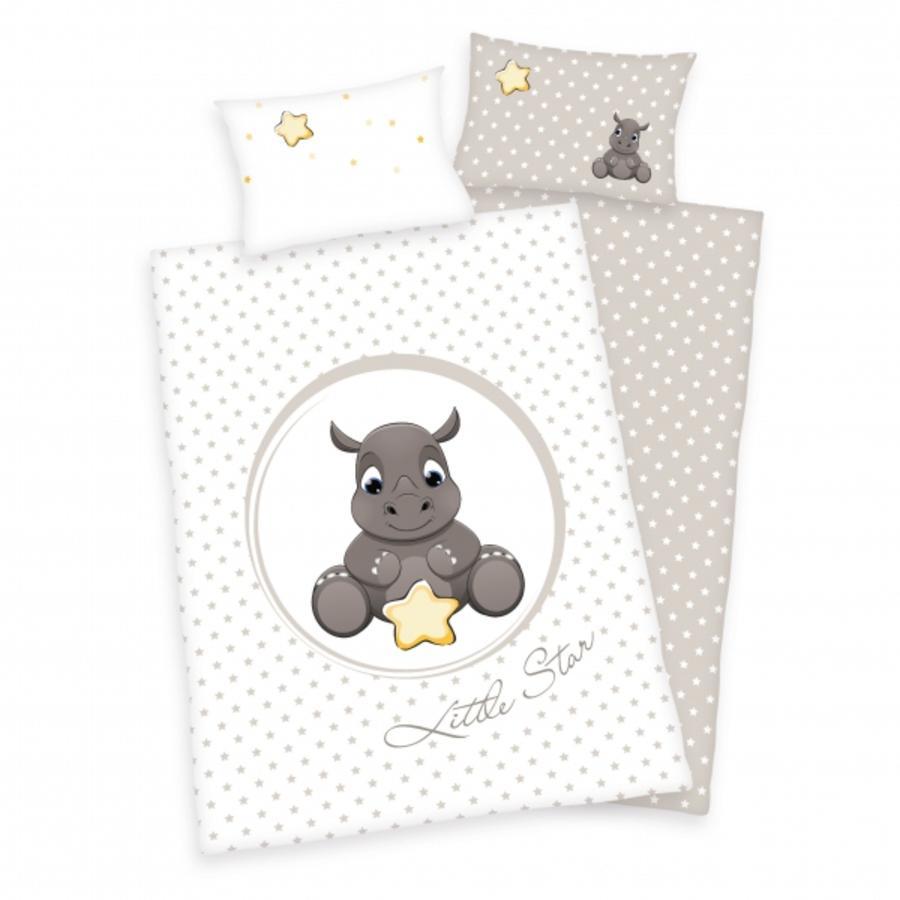 babybest® Bettwäsche Nashorn 100x135 cm