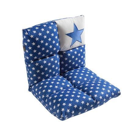 2 in 1 lasten nojatuoli ja sohva, sininen