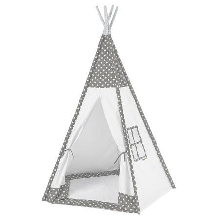 howa Tipi Telt Toni grå / hvit, med gulvmatte