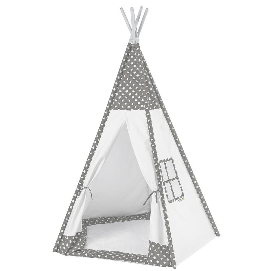 howa Tipi Stan Toni šedá / bílá, s podlahovou rohoží