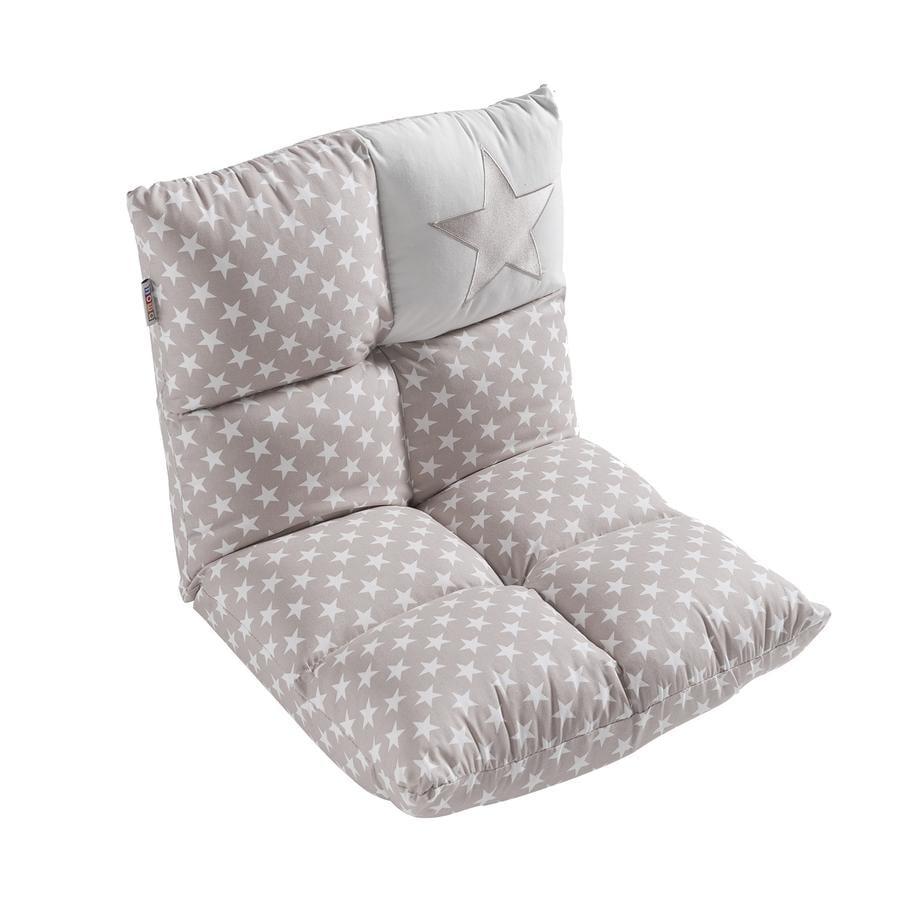howa Sillón y sofá 2 en 1 para niños, gris