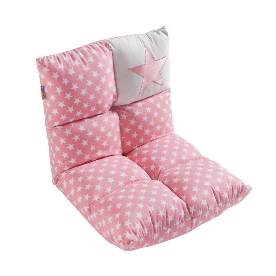 howa 2 in 1 lasten nojatuoli ja sohva, vaaleanpunainen