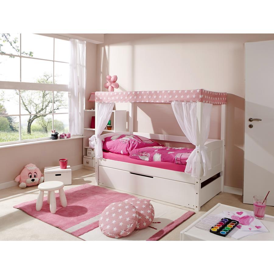 TiCAA Himmelbett Mini mit Zusatzbett Stern Rosa