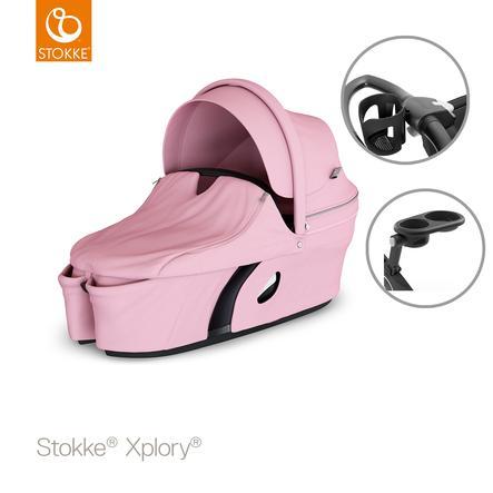 STOKKE® Tragewanne Xplory® V6 Lotus Pink inklusive Snack Tray und Cup Holder