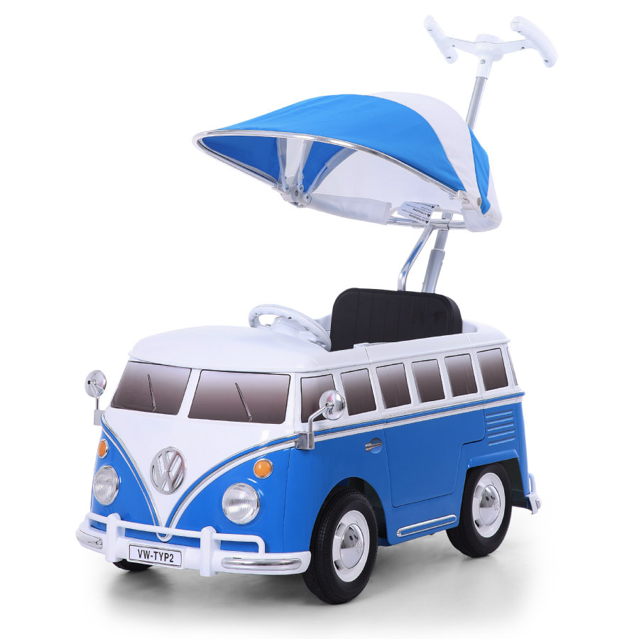 ROLLPLAY VW Cochecito Bus T2 Push Car, blue 49223