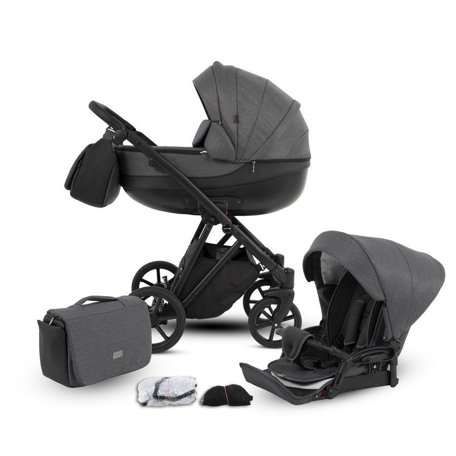 knorr-baby Kombikinderwagen YAP 11-teiliges Set Grau