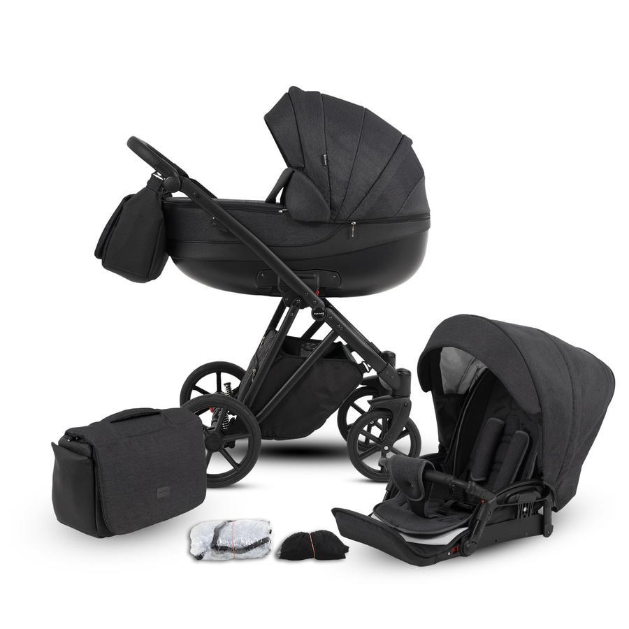 knorr-baby Kombikinderwagen YAP 11-teiliges Set Anthrazit