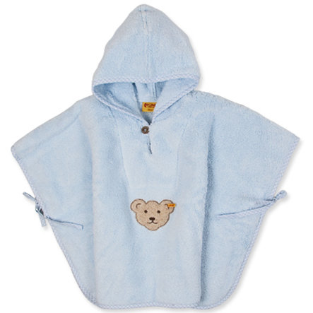Steiff Boys Frottee Bade Poncho baby blue