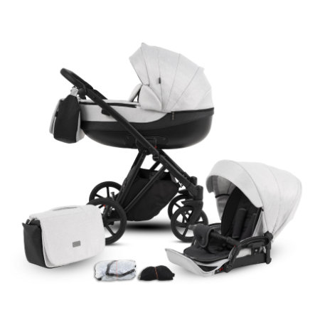 knorr-baby Kombikinderwagen YAP 11-teiliges Set Hellgrau