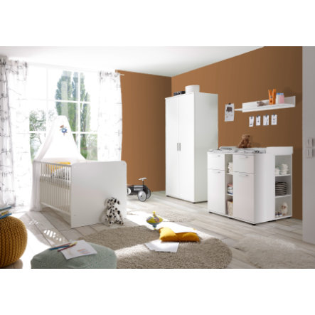 TiCAA Babyzimmer Lotta 4-teilig weiß 2-türig