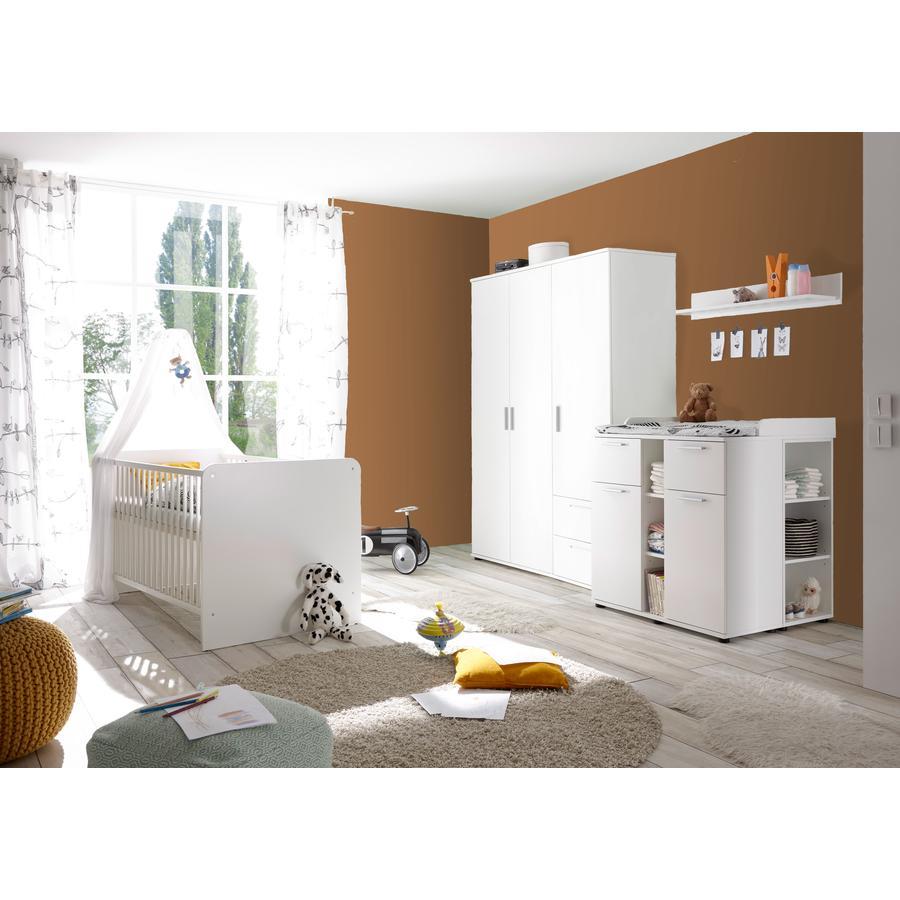 TiCAA Babyzimmer Lotta 4-teilig weiß 3-türig
