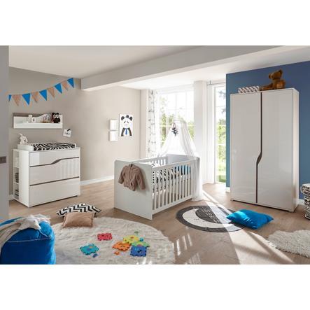 TiCAA Babyzimmer Paul 4-teilig weiß-Eiche 2-türig