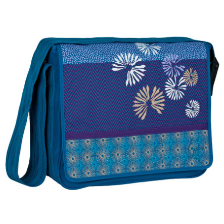 LÄSSIG Sac à langer Casual Messenger Bag Bloom petrol
