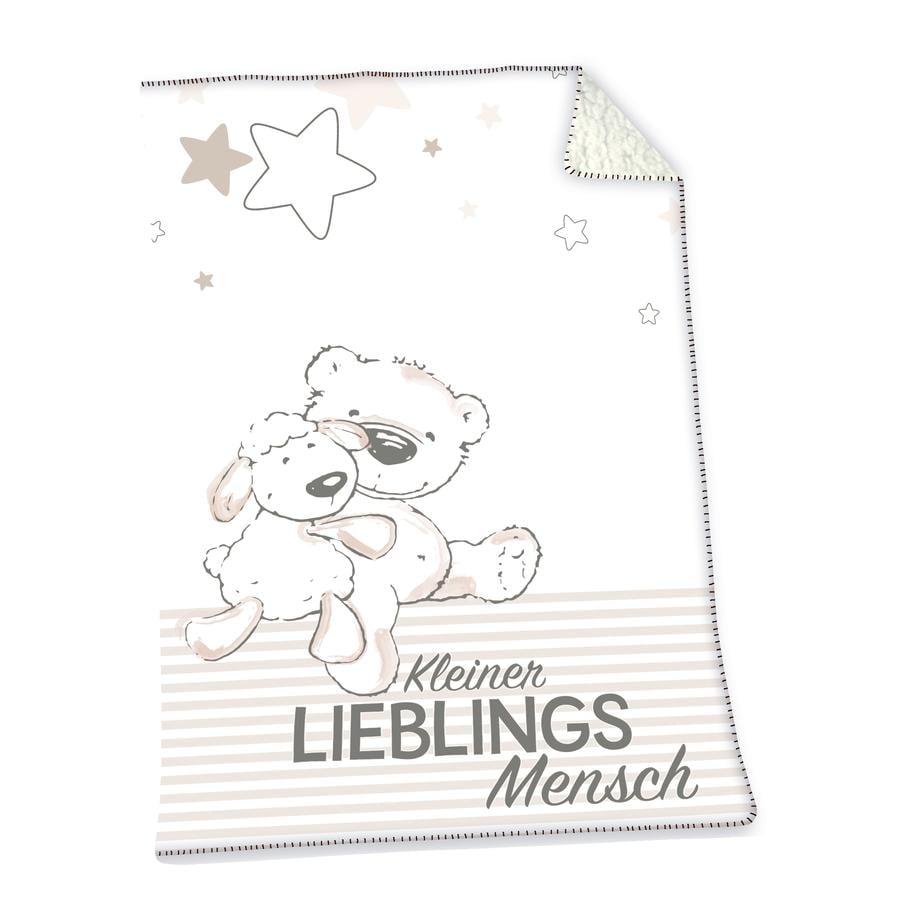 HERDING Lieblingsmensch Soft-Plush-Decke 75x100 cm